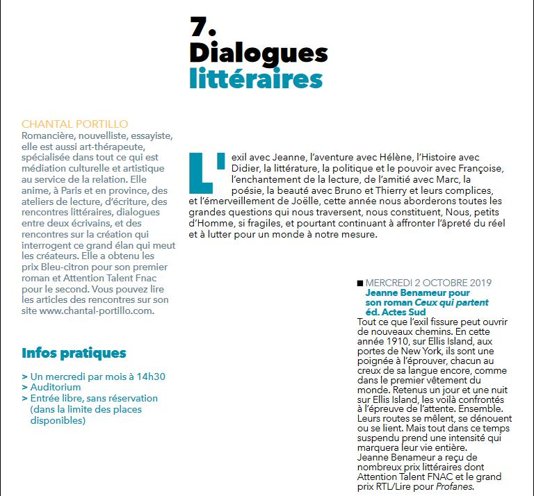 Dialogues litteraires 1